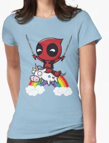 deadpool art Womens Fitted T-Shirt