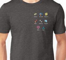 Pokemon - Hoenn League: Hoenn Region Badges  Unisex T-Shirt