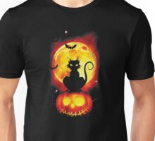 Spooky Night Happy Halloween Cat and Pum pkin T-Shirt !!! Unisex T-Shirt