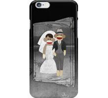 Sock Monkey Wedding iPhone Case/Skin