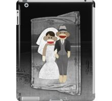 Sock Monkey Wedding iPad Case/Skin