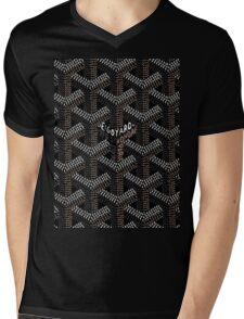 Goyard Black Mens V-Neck T-Shirt