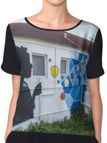 Street Art in Over-the-Hill Chiffon Top