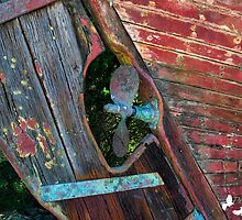 OLD BOAT PROP by TJ Baccari Photography