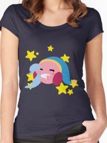 Sleepy Kirby Women's Fitted Scoop T-Shirt