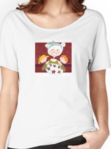 Grandmother with sweet cookies. Grandmother with perfect cookies. Women's Relaxed Fit T-Shirt