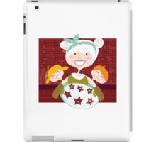 Grandmother with sweet cookies. Grandmother with perfect cookies. iPad Case/Skin
