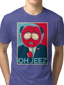 MR GARRISON OH JEEZ Tri-blend T-Shirt