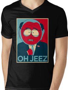 MR GARRISON OH JEEZ Mens V-Neck T-Shirt