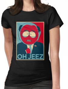 MR GARRISON OH JEEZ Womens Fitted T-Shirt