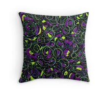 Purple and gray abstraction Throw Pillow