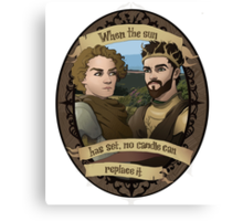 Renly and Loras - Game of Thrones Canvas Print