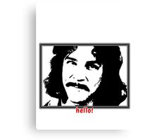 Hello (in red) My Name Is Canvas Print