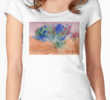 Flowery abstract Women's Fitted Scoop T-Shirt