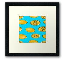 Lemon fruit pattern Framed Print