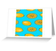Lemon fruit pattern Greeting Card