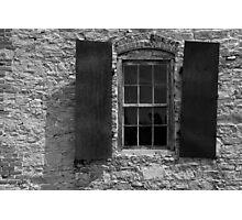 Blacksmith Shop Window 3 BW Photographic Print