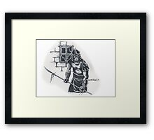 Enter The Shredder! Framed Print