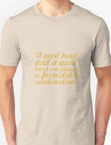 "A good head... ""Nelson Mandela"" Inspirational Quote Unisex T-Shirt"