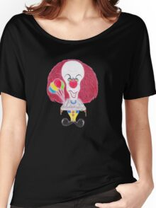 Horror Movie Clown Caricature Women's Relaxed Fit T-Shirt