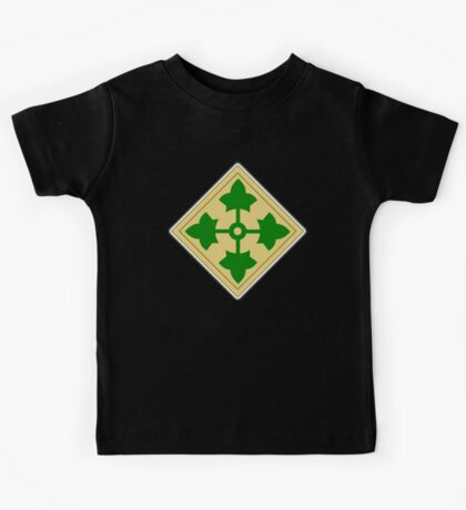 US, ARMY, 4th Infantry, Division, Soldier, shoulder insignia, American, America, USA,  Kids Tee