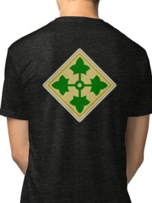 ARMY, 4th Infantry, Division, Soldier, shoulder insignia, American, America, USA,  Tri-blend T-Shirt