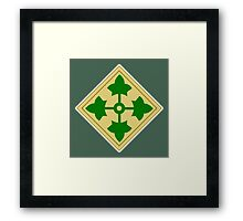 American, Soldier, ARMY, 4th Infantry, Division, shoulder insignia, Framed Print