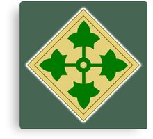 ARMY, 4th Infantry, Division, Soldier, shoulder insignia, American, America, USA,  Canvas Print
