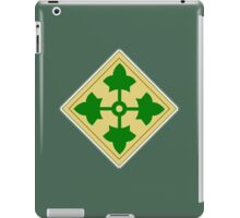 American, Soldier, ARMY, 4th Infantry, Division, shoulder insignia, iPad Case/Skin