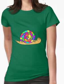 Toby the Snail Womens Fitted T-Shirt