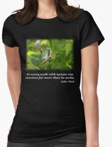 Gray Treefrog Womens Fitted T-Shirt