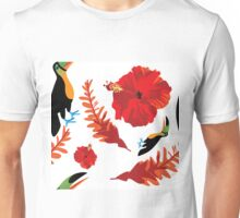 Hawaiian Aloha seamless pattern. Unisex T-Shirt
