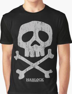 Captain Harlock Skull Graphic T-Shirt