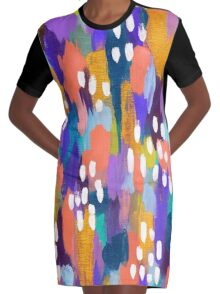 Jules - Abstract Graphic T-Shirt Dress