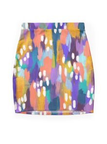 Jules - Abstract Mini Skirt