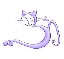 Om Kitty - Liquid Purple Photographic Print