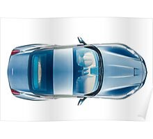 Blue Ferrari Poster
