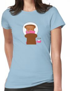 Mr. Toast Starting His Day! Womens Fitted T-Shirt
