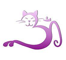 Om Kitty - Purple Fade Photographic Print
