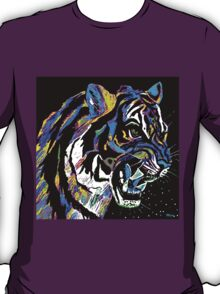 Stalking Tiger Blue and Purple T-Shirt