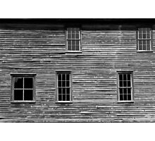 Hotel Detail Fayette State Park BW Photographic Print