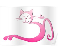 Om Kitty - Pink Fade Poster