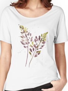 Flowers watercolor illustration Women's Relaxed Fit T-Shirt