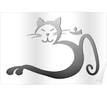 Om Kitty - Silver Fade Poster