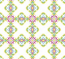Colorful Shabby Chic Inspired Ornamental Design by Mercury McCutcheon