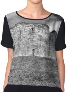 Clifford's Tower in York  historical building  Chiffon Top