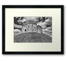 Clifford's Tower in York  historical building  Framed Print