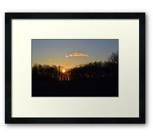 Sunset Trees 2 Framed Print