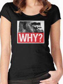 Harambe - Why? Women's Fitted Scoop T-Shirt