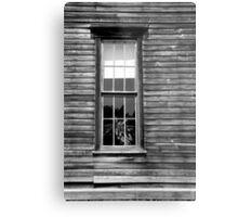 Hotel Window Fayette State Park BW Metal Print